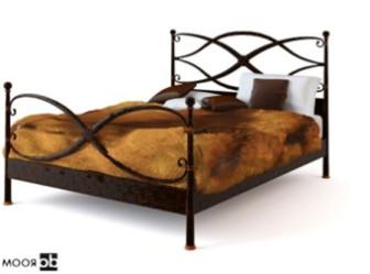 Retro Iron Bed Free 3dmax Model