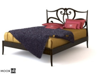 Free 3dmax Model Of Chinese-style Bed