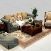 European Style Sofa Free 3dmax Model