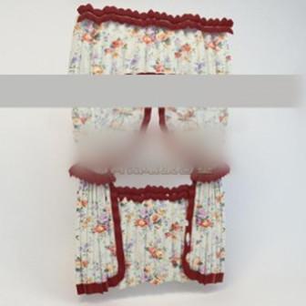 Girl Flower Curtain