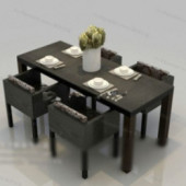 Casual Dinette Combination Free 3dmax Model
