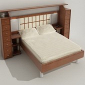 Modern Wind Simple Free 3dmax Model Of Bed