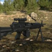Military M249 Machine Gun