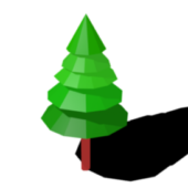 Decoration Low Poly Pine Tree