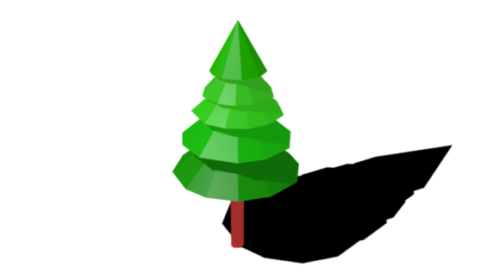 Decoration Low Poly Pine Tree