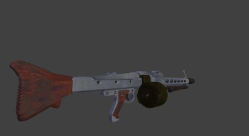 Mg42 Gun High Poly