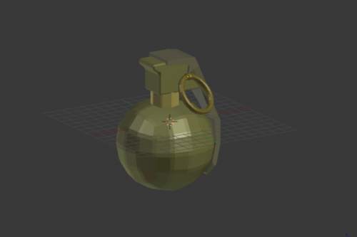 Hand Grenade Weapon Lowpoly