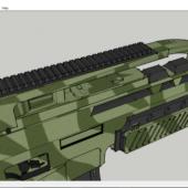 Scar-x Gun Weapon