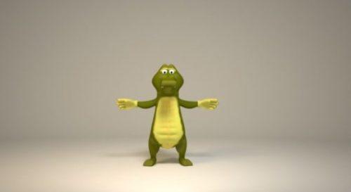 Crocodile Cartoon Character