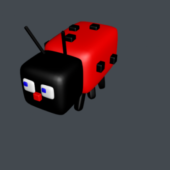 Ladybug Insert Cartoon Character