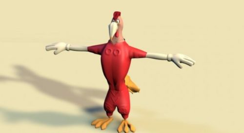 Cartoon Character Rooster