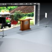 Television Set Scene