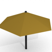 Low Poly Restaurant Umbrella