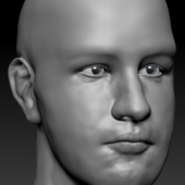 High-poly Man Head