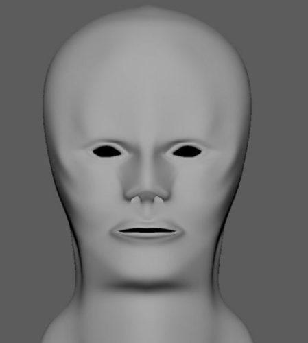 Horror Human Face