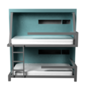 Soft Blue Bunk Bed
