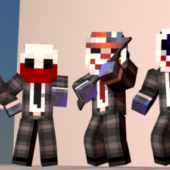 Skins Payday Minecraft Edition