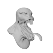 Venom Head Sculpt