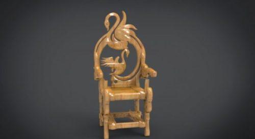 Unique Chair with a Goose motif