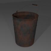 Old Rusty Metal Bucket (milk Bucket)
