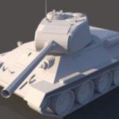Tank T-34-85. Low Poly