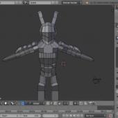 Swordman Robot Obj