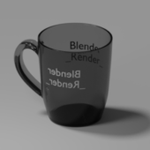 Glossy Cup With A Text…