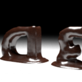 Chocolate Melting Text Animation