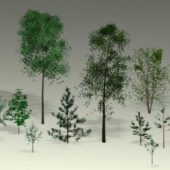 Trees, Saplings Low-poly