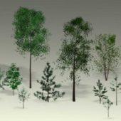 Trees, Saplings Low-poly