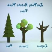 Blender – Lowpoly Nature Assets Pack