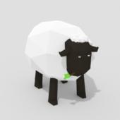 Cartoon Low-poly Sheep