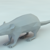 Low Poly Rat