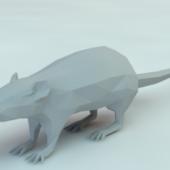 Low Poly Rat