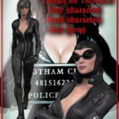 Catwomen Character Compatible Daz Poser Pro Game Dev Victoria 3 Base Figure