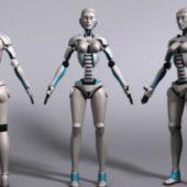 Sci-fi Female Robot Rig