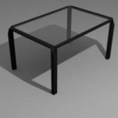 Low-poly Stylish Modern Desk (table)