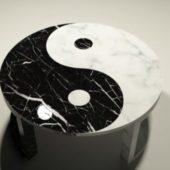 Yin & Yang Marble Coffee Table