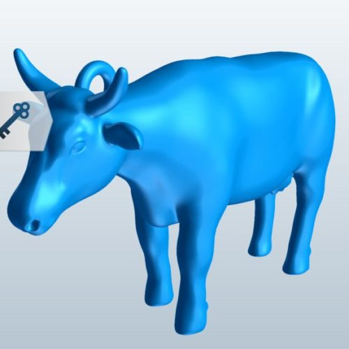 Cow Lowpoly Free 3D Model (Obj, Stl) - Download