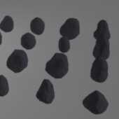 Free Low Poly Rock Pack