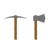 Low Poly Axe & Pickaxe