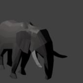 Low-poly Elephant