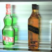 4 Bottles (ricard, Whisky, Get And Vodka)