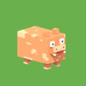Lowpoly Voxel Pig