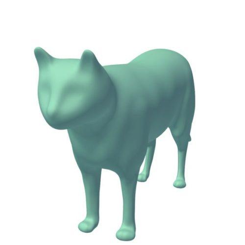 Cat In Lowpoly