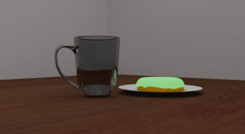 Coffee Cup With Donut