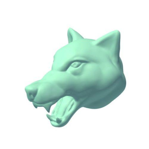 Wolf Head Lowpoly