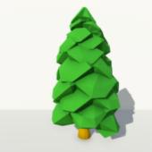 Low Poly Pine Tree