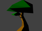 Cartoon Lowpoly Tree