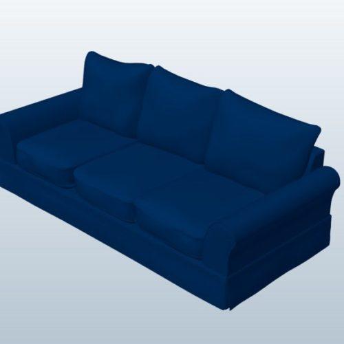 Casual Sofa Denim